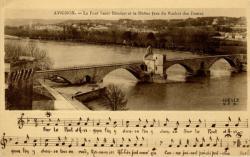 Avignon - Le Pont St-Bénézet et le Rhône (vus du Rocher des Doms)