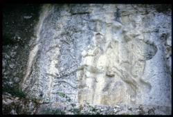 [Bas-relief romain du dieu Mithra, Bourg-Saint-Andéol]