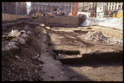 [Fouilles archéologiques et construction du parking souterrain, place des terreaux]