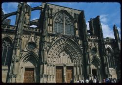 [Saint-Antoine-l'Abbaye (Isère) : façade de l'abbaye]
