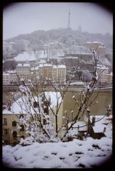 [La colline de Fourvière sous la neige]