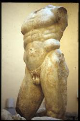 [Sculpture romaine buste au musée lapidaire, Aix-les-Bains]