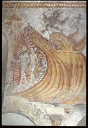 [Fresque Adam et Eve, église de Saint- Maurice de Goudrans]
