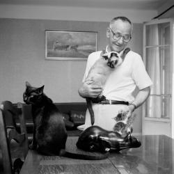 [Sabin Sappey, fondateur de l'Association des amis du chat noir]