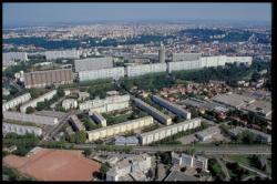 Vue aérienne du quartier de la Duchère