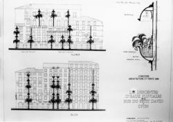 """[Concours """"Architecture et fonte"""" (1986). Les descentes d'eaux pluviales de la rue du Petit-David]"""