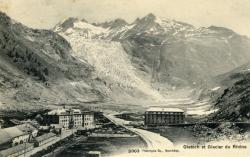 Gletch et glacier du Rhône