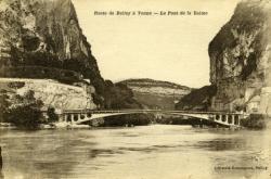 Route de Belley à Yenne - le Pont de la Balme.