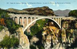 Ligne du tramway électrique de Bellegarde à Chezery - Le pont du Moulin des Pierres sur la Valserine.