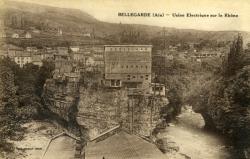 Bellegarde (Ain)- Usine électrique sur le Rhône.