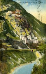 Le Rhône et le Fort de l'Ecluse.
