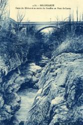 Bellegarde - Perte du Rhône et sa sortie du Gouffre au Pont de Lucey.