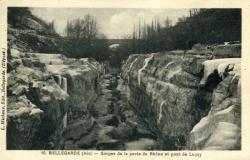 Bellegarde (Ain) - Gorges de la perte du Rhône et pont de Luçay.