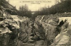 Bellegarde (Ain) - Gorges de la Perte du Rhône et Pont du Lucey.