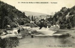 Perte du Rhône et Bellegarde - Vue d'amont.