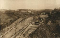 Les Belles Provinces Françaises : L'Auvergne ; Vue générale sur la gare des Ancizes-Saint-Georges.