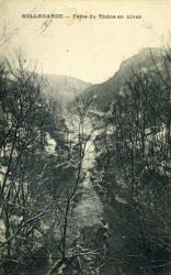 Bellegarde - Perte du Rhône en hiver.