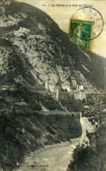 Le Rhône et le Fort de l'Ecluse
