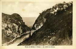 Route de Belley à Yenne - Le défilé du Rhône.