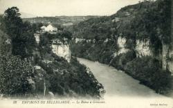 ENVIRONS DE BELLEGARDE. - Le Rhône à Génissiat.