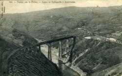 Viaduc sur le Rhône. - Ligne de Bellegarde à Annemasse.