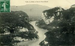 Vallée du Rhône et Fort de Pierre-Châtel.