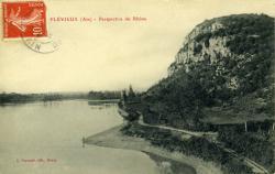 Flévieux (Ain) - Perspective du Rhône.