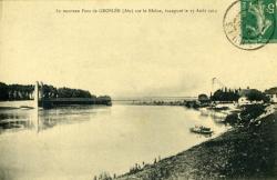 Le nouveau Pont de Groslée (Ain) sur le Rhône, inauguré le 17 Août 1913.