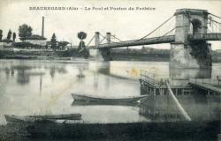 Beauegard (Ain) - Le Pont et le Ponton du Parisien.
