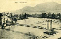 Yenne. - Le pont suspendu