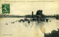 Environs de St-Genix-sur-Guiers. - Les inondations vers le Pont-de Cordon.