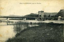 Pont-de Cordon, sur le Rhône.