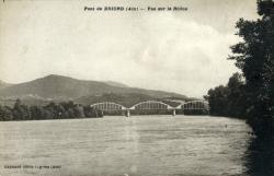 Pont de Briord (Ain) - Vue sur le Rhône