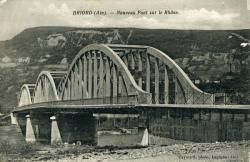 Briord (Ain). - Nouveau Pont sur le Rhône.