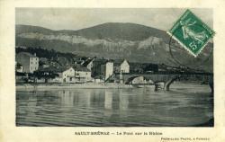 Sault-Brénaz - Le pont du Rhône