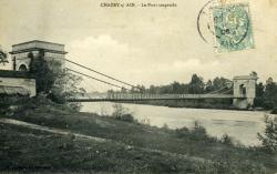 Chasez-s/-Ain. - Le Pont suspendu.