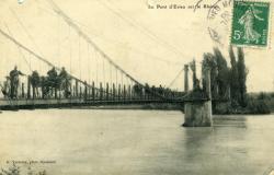 Le Pont d'Evieu sur le Rhône.