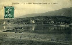 Groslée. Vue générale du Port de Groslée sur le Rhône.