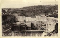 Env de Chanay (Ain) - Le nouveau barrage de Génissiat.