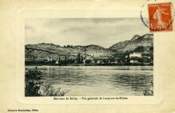 Environs de Belley. - Vue générale de Lucey-sur-le-Rhône.