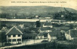 Lucey (Savoie) - Vue générale et Massigneux-de-Rives au fond - Le Rhône.