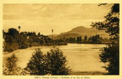 Yenne (Savoie) - St-Didier et les Iles du Rhône.