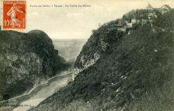 Route de Belley à Yenne - Le défilé du Rhône