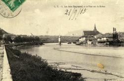 Les deux Seyssel et le Pont sur le Rhône.