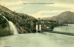Yenne - La Cascade et le Rhône pendant les Innondations