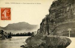 Yenne (Savoie) - Pont suspendu sur le Rhône