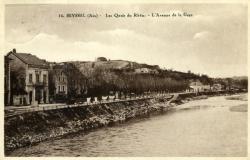 SEYSSEL (Ain) - Les Quais du Rhône - L'Avenue de la Gare