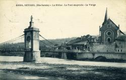SEYSSEL (Hte-Savoie) - Le Rhône - Le Pont suspendu - La Vierge