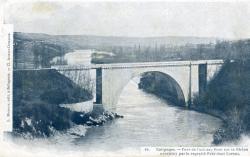 Collonges. - Fort de l'Ecluse ; Pont sur le Rhône construit par le regretté Président Carnot.
