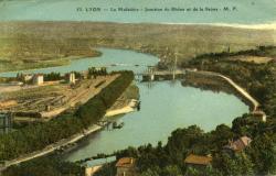 Lyon - La Mulatière - Jonction du Rhône et de la Saône